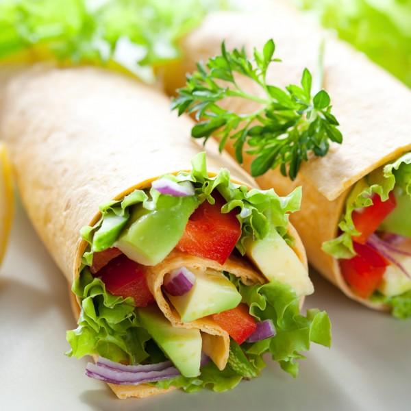Vegetáriánus wrap