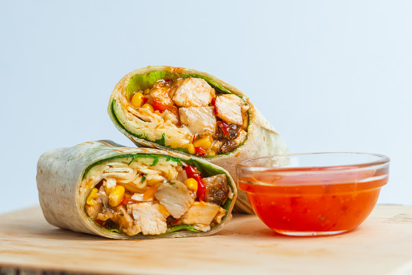 Sweet chilis csirke wrap