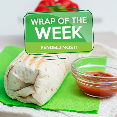 Sweet Chili Csirke wrap