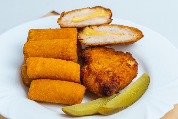 Cordon bleu krumplipüré krokettel